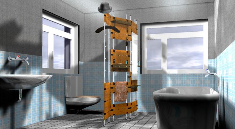 Schön Trennwand Raumtrenner Badezimmer Sensible Roomservice W 45 Nassbereich  Produktgestaltung Produktdesign Jonadesign Jona Design Zürich